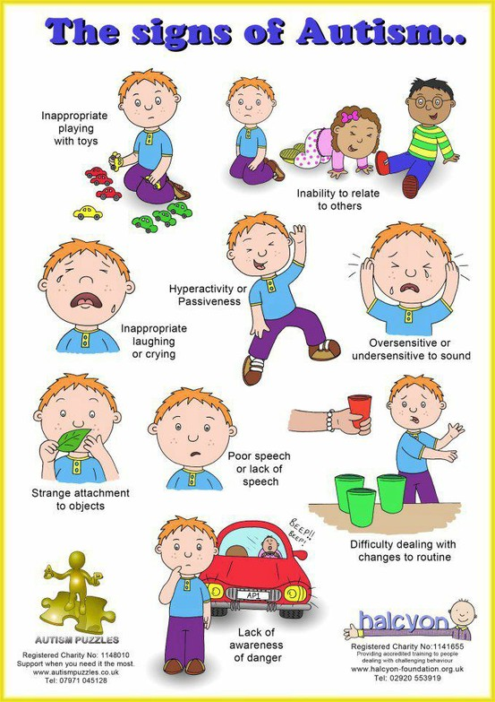 the signs of autism  infograph